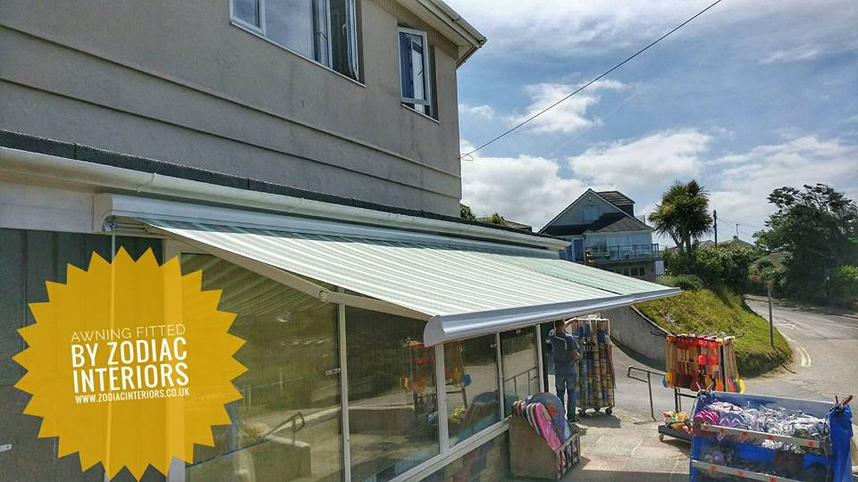 awning fitted at Holywell Bay in Newquay Cornwall